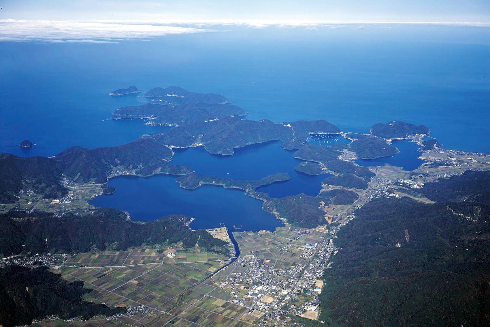 空から撮った三方五湖
